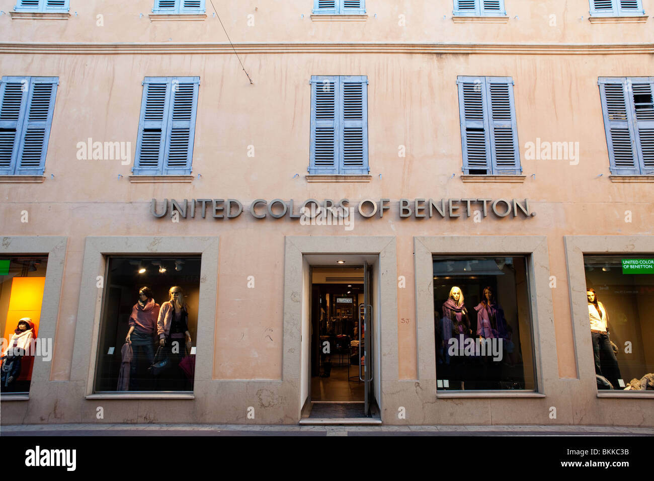 BENETTON FASHION STORE IN ST TROPEZ, FRANCE - Stock Image