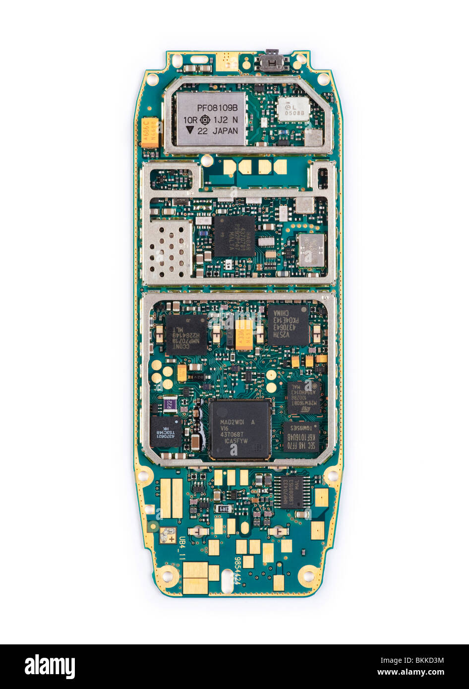 Circuit Board Of A Cell Phone Royalty Free Stock Image Miniaturization Cut Out Images Pictures Alamy From Nokia 3310 Mobile