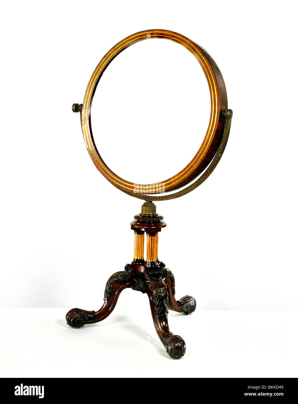 Concave mirror. England, 19th century - Stock Image