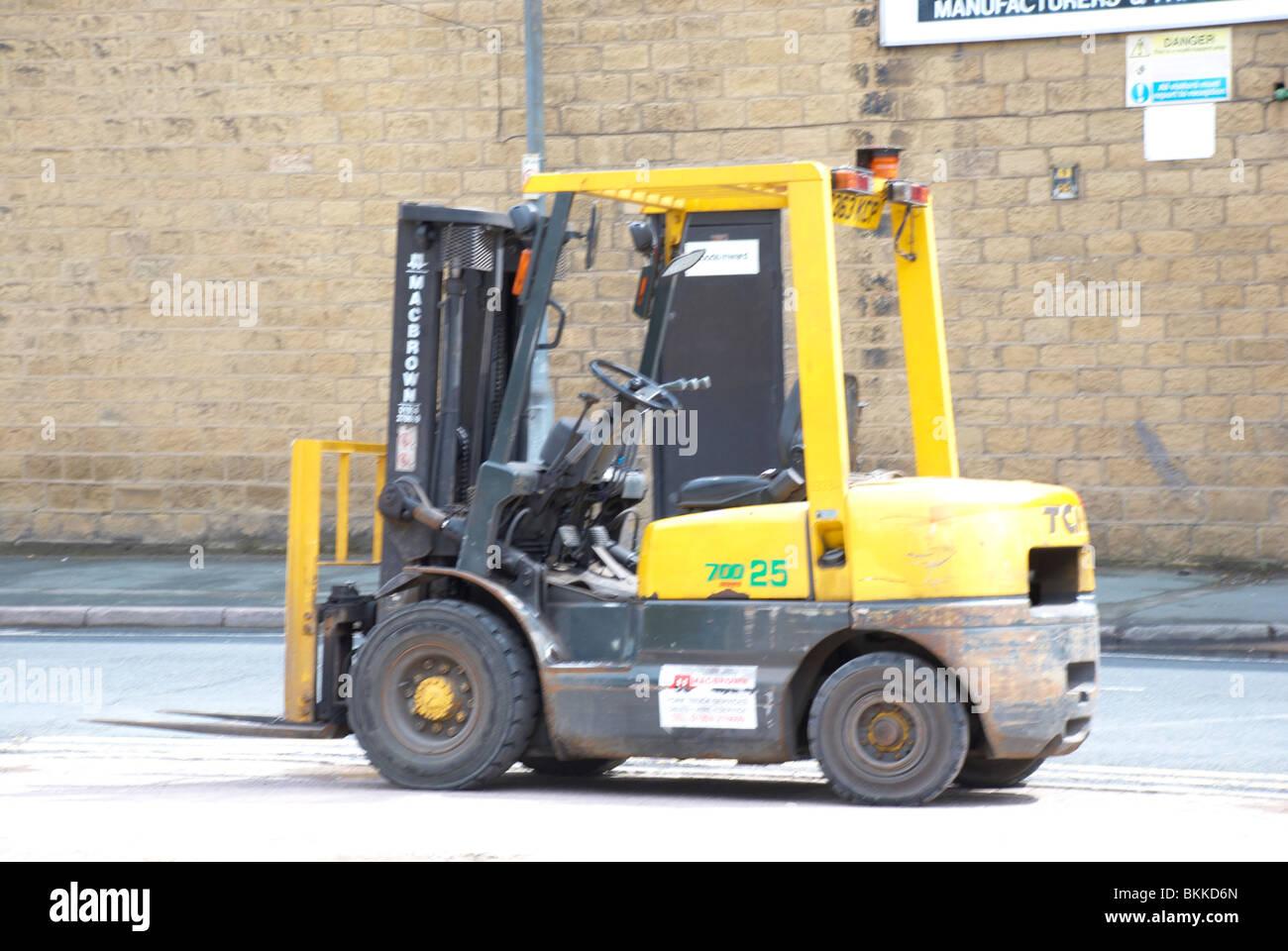 Forklift truck. Stock Photo