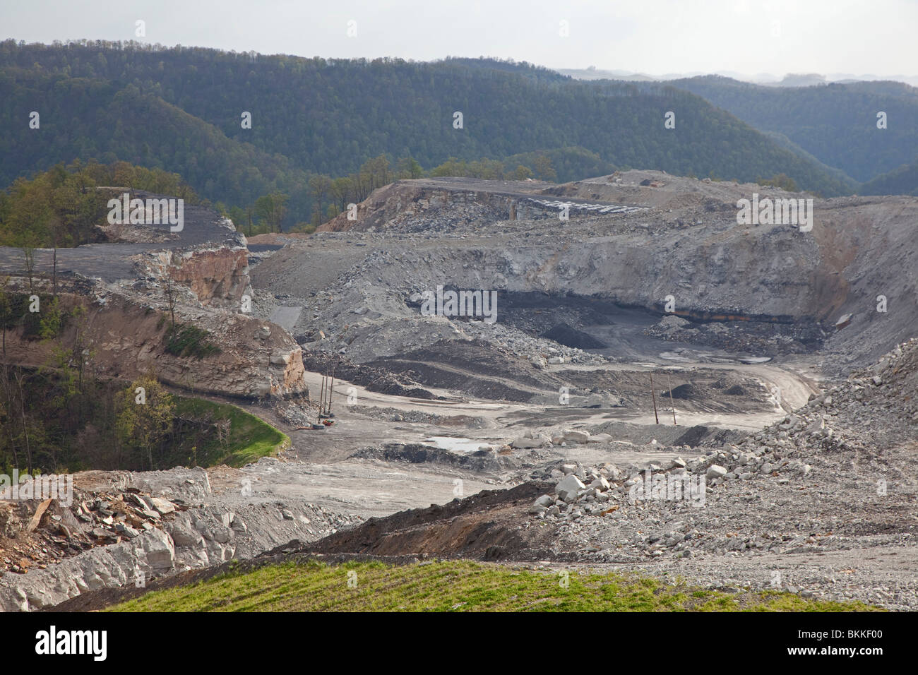 Mountaintop Removal Coal Mining Site Stock Photo