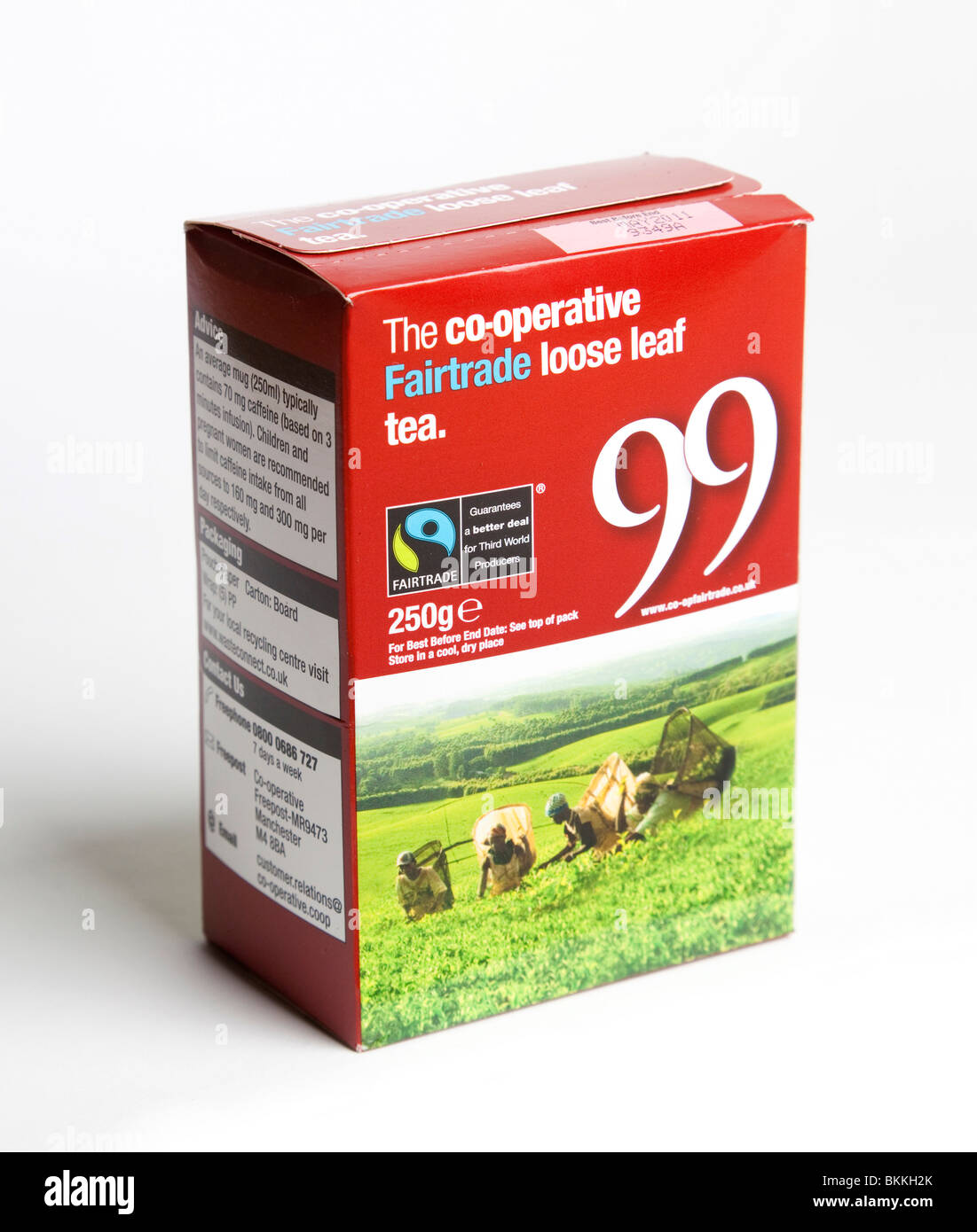co-operative Fairtrade pack of tea leaves - Stock Image
