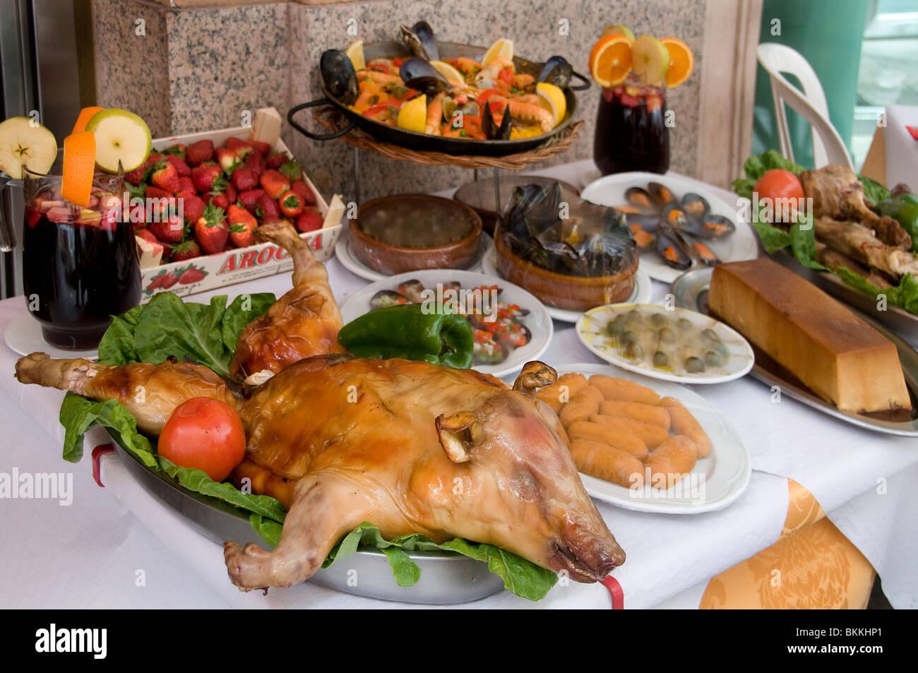 Madrid Spain Bar Pub Cafe Restaurant pig piggy - Stock Image