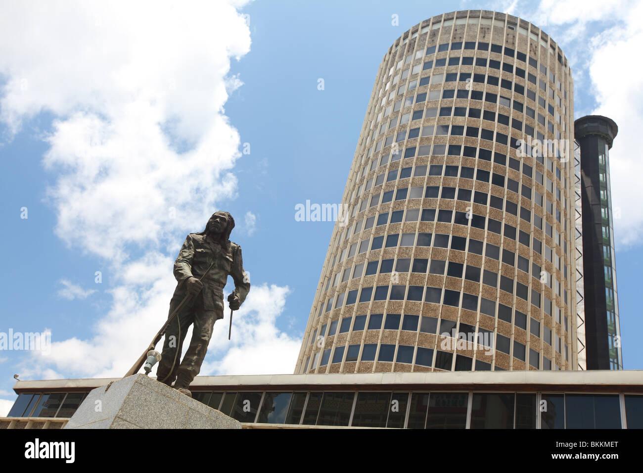 Nairobi, Kenya, East, Africa, downtown, Nairobi Hilton Hotel - Stock Image