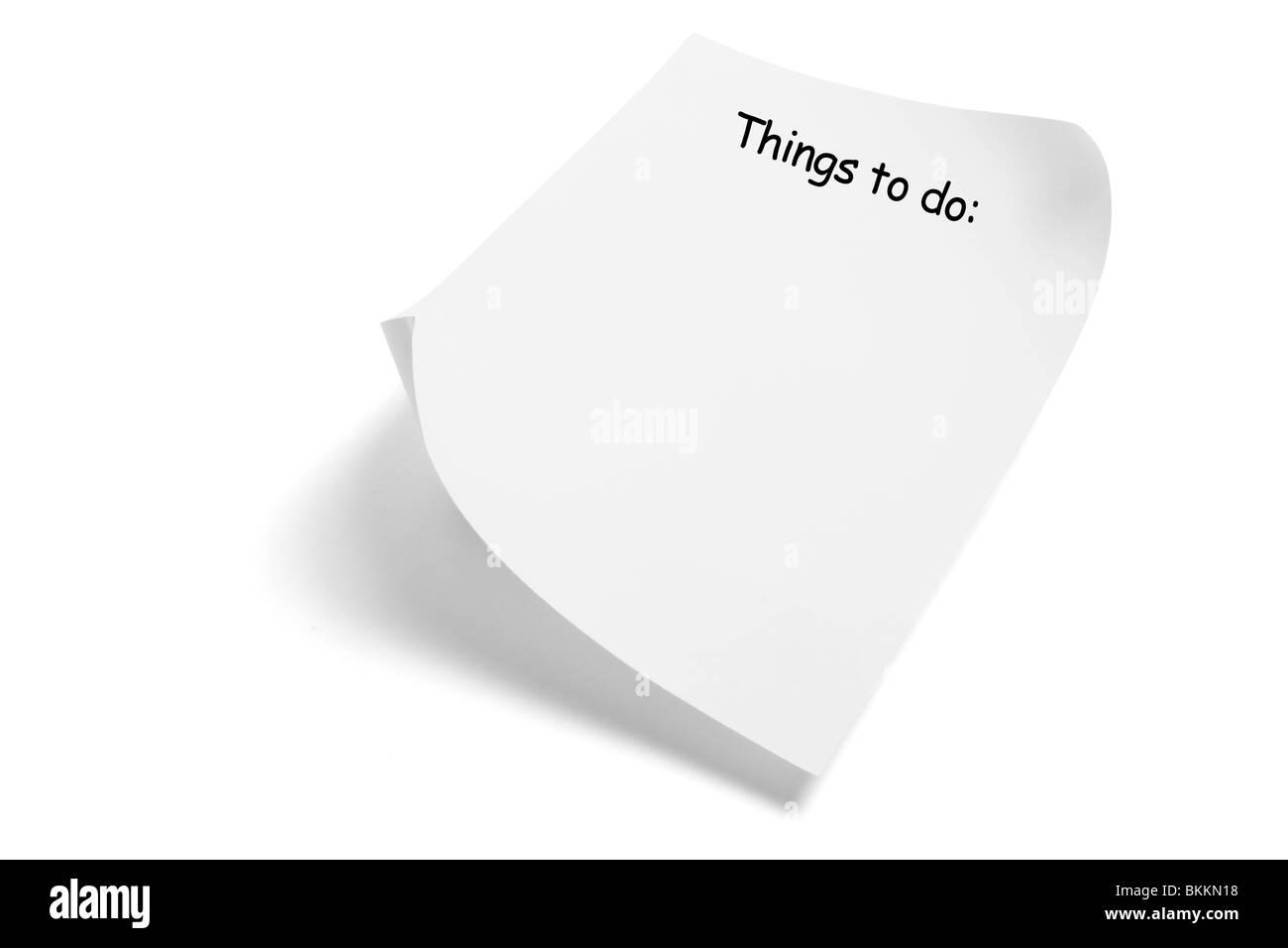 Things to Do Reminder - Stock Image