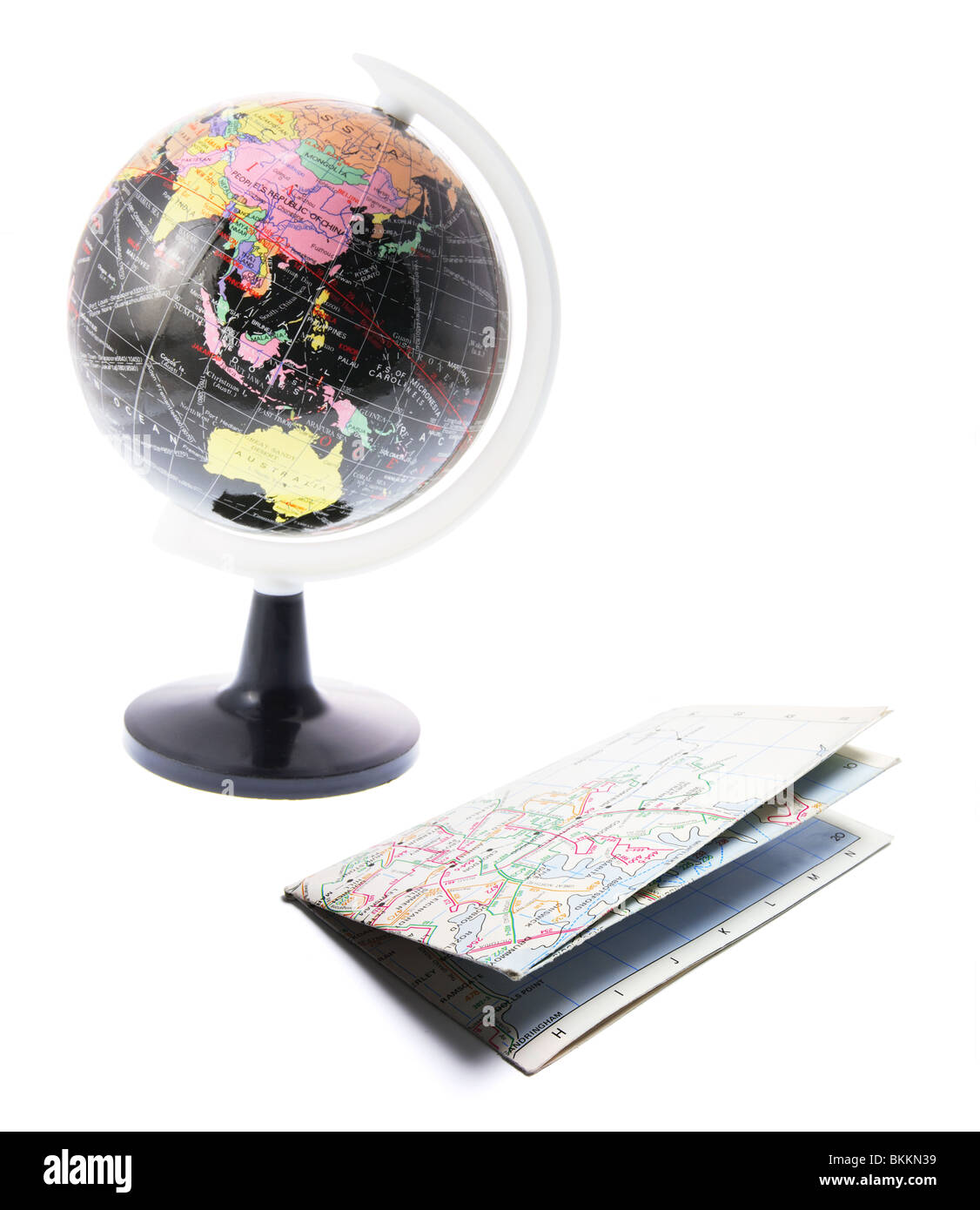 Globe and Street Map - Stock Image
