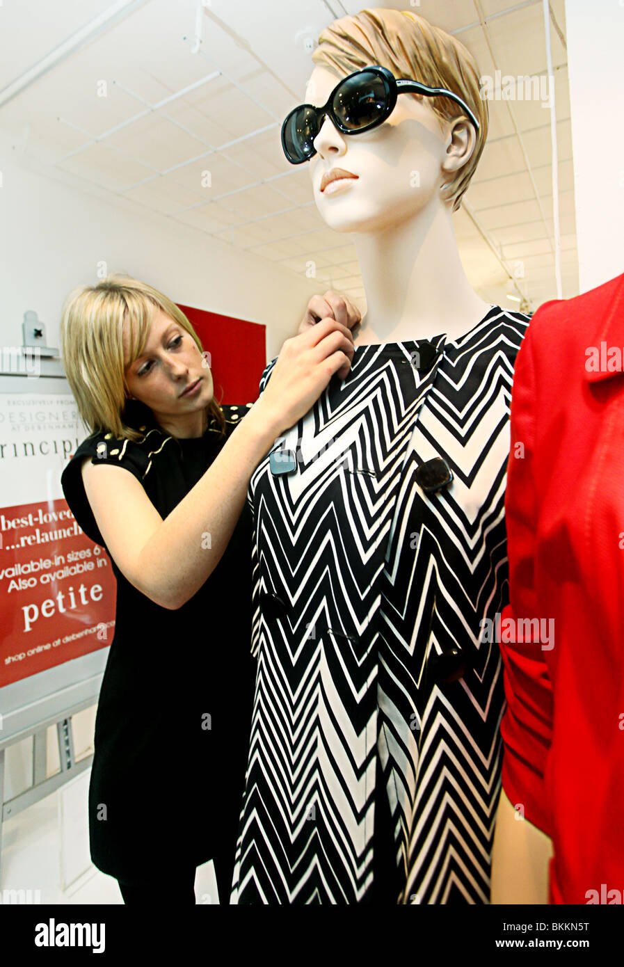 Woman dressing size 16 mannequin. - Stock Image