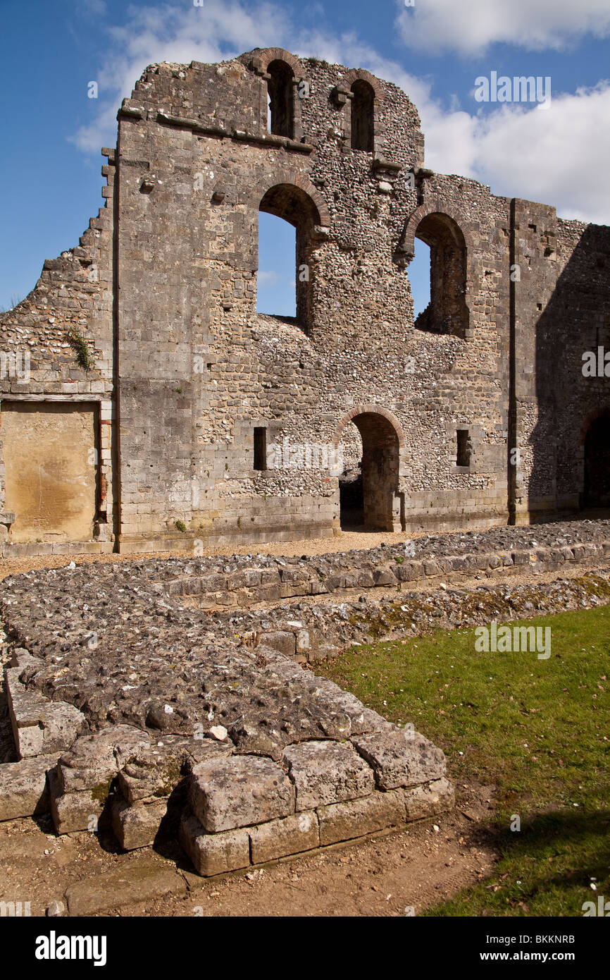 Wolvesey Castle, Winchester Hampshire, England. Stock Photo