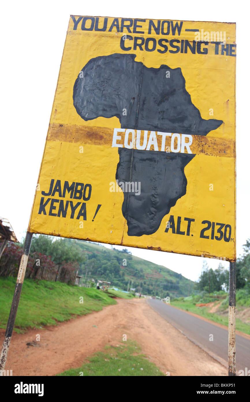 Kenya, Africa, along the B5, area of Nyahururu, highlands, Equator - Stock Image