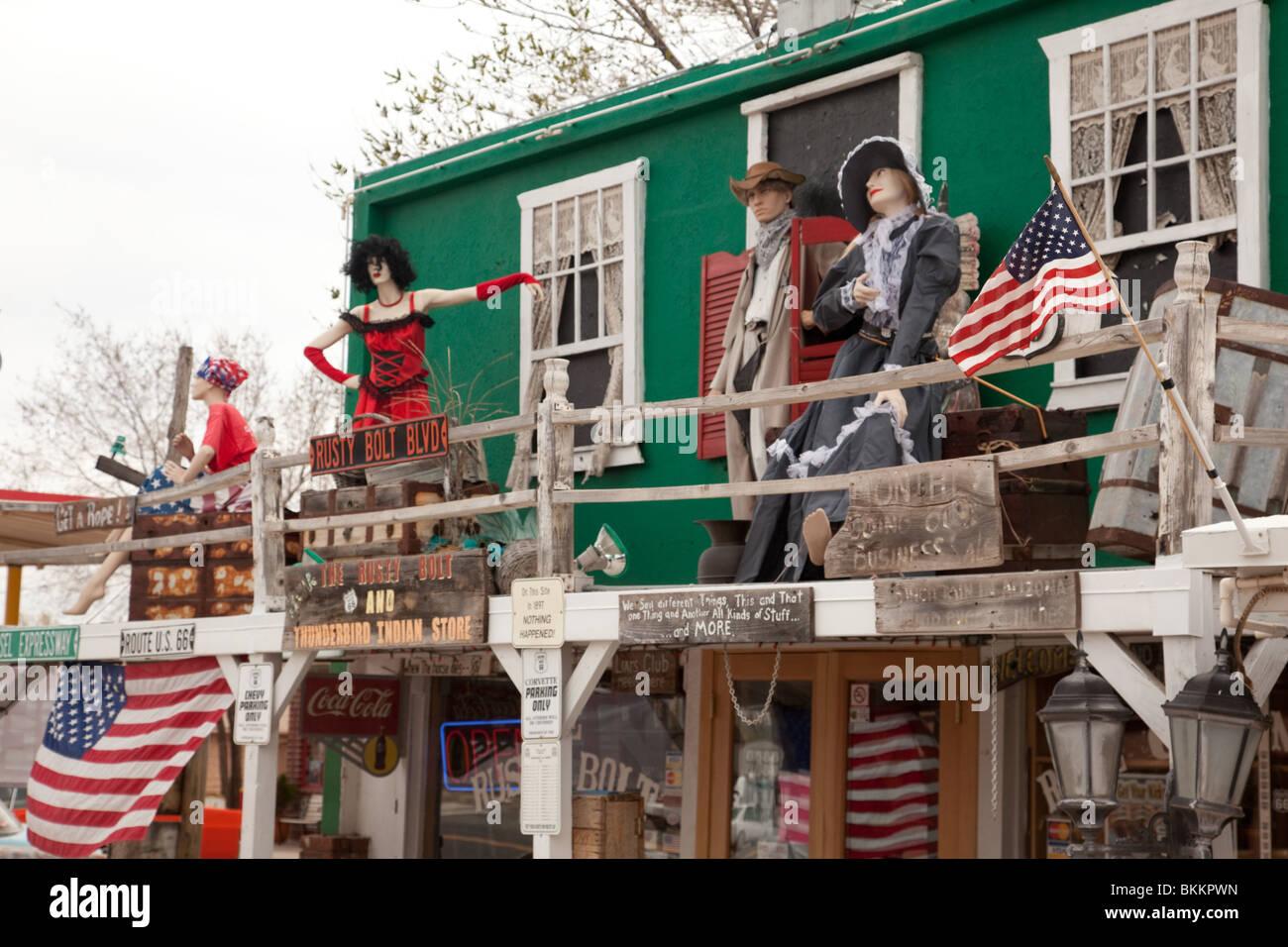 Route 66 tourist attraction. Seligman, Arizona, USA - Stock Image