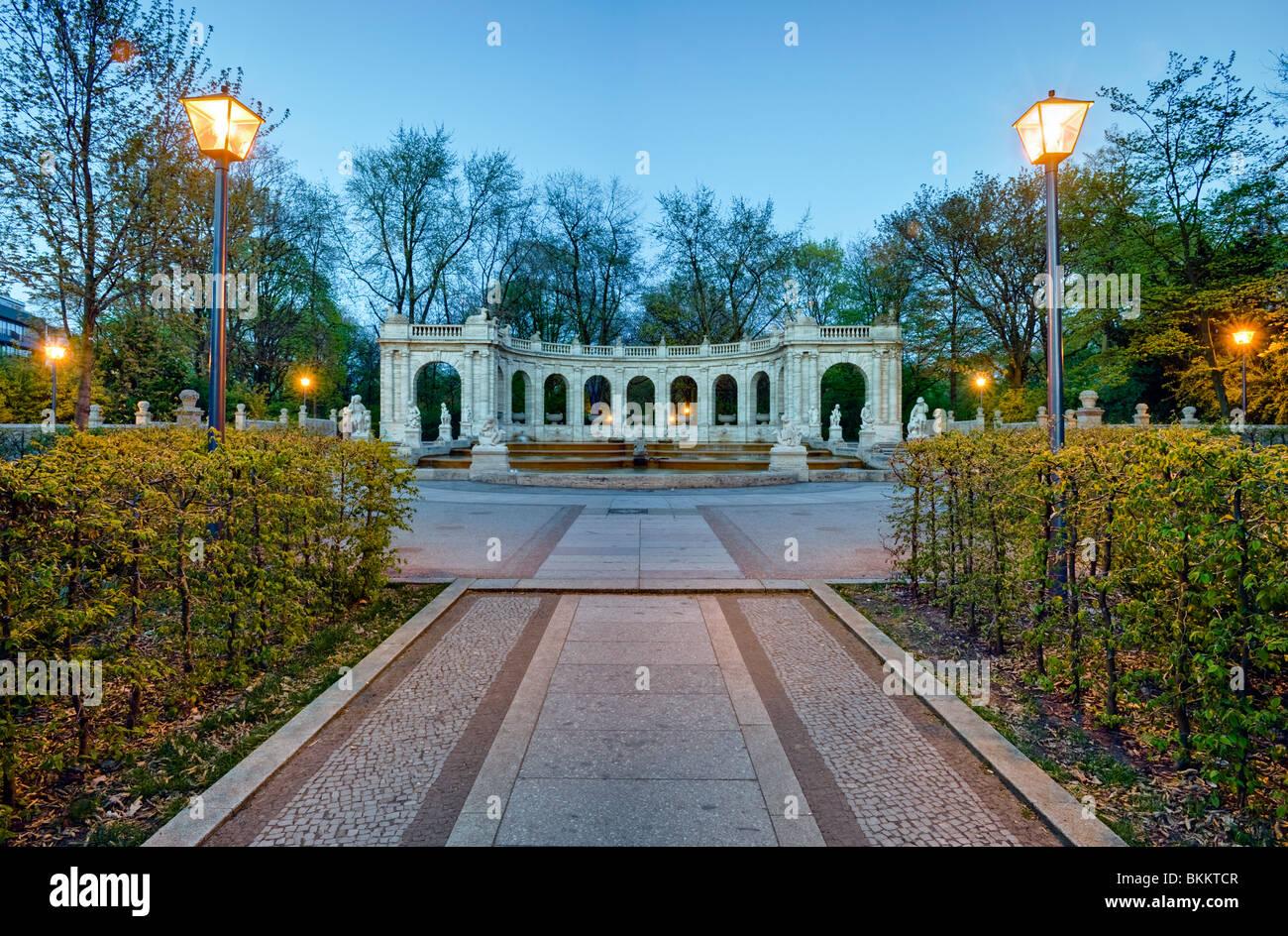 Fountain of fairy tales, Volkspark Friedrichshain, Berlin, Germany - Stock Image