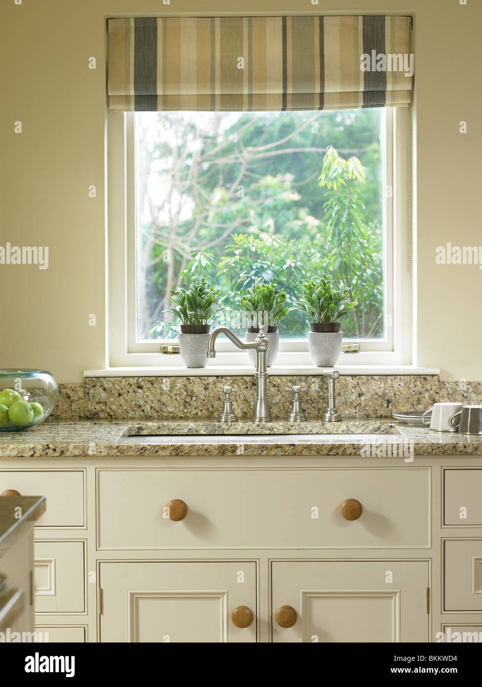 Kitchen in a home in Dunadry - Stock Image