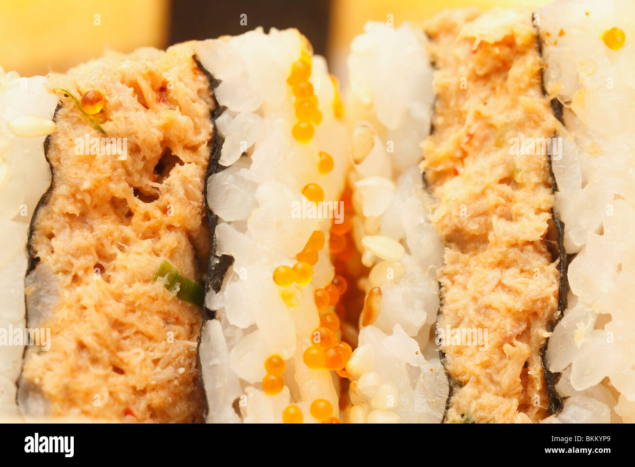 Sushi Sandwich snake Assortment close up. - Stock Image