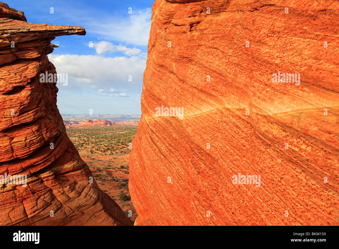 Rock window in the Vermilion Cliffs National Monument - Stock Image