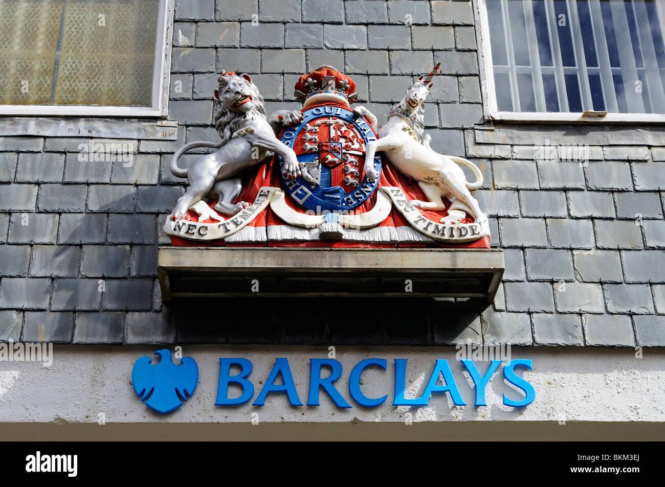 barclays bank sign, uk - Stock Image