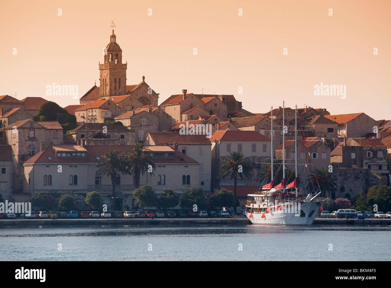 Croatia, Dalmatia, Dalmatian Coast, Korcula Island, Korcula City - Stock Image