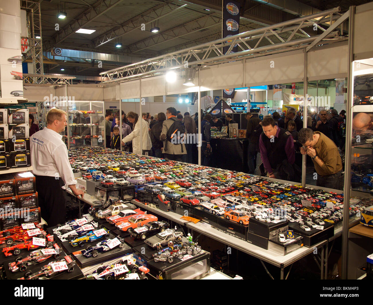 Classic car models for collectors at Techno Classica in Essen, Germany - Stock Image
