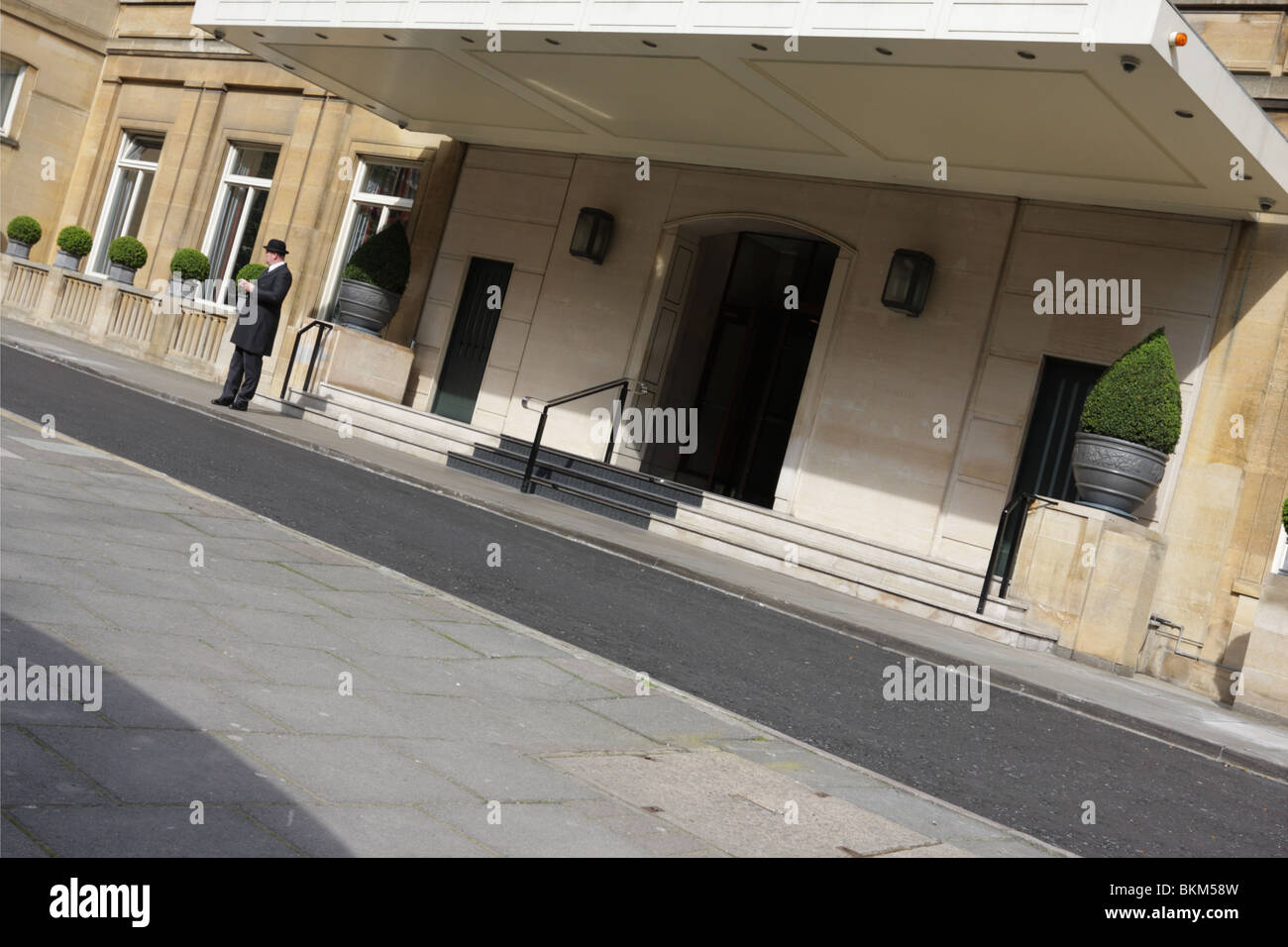 Main entrance to the exclusive Berkley Hotel in Wilton Place in Knightsbridge. Stock Photo