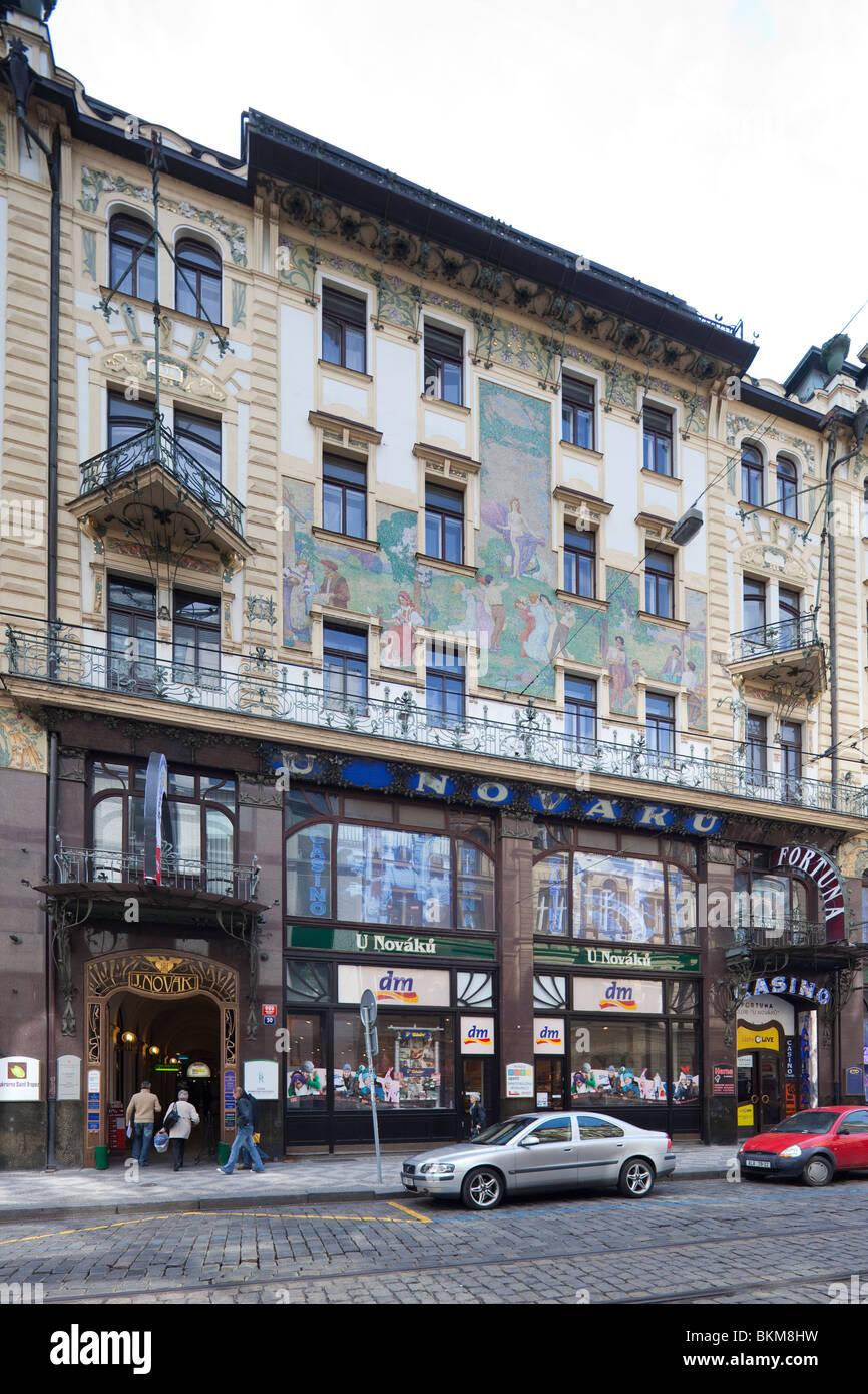 Former Novak department store, Prague, Czech Republic - Stock Image