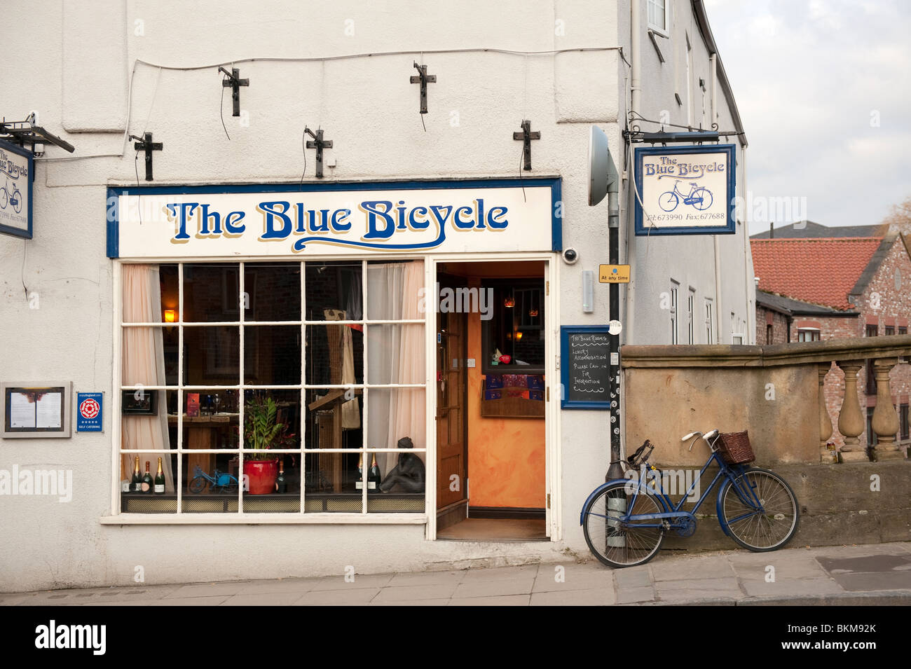 The Blue Bicycle Fossgate York UK - Stock Image