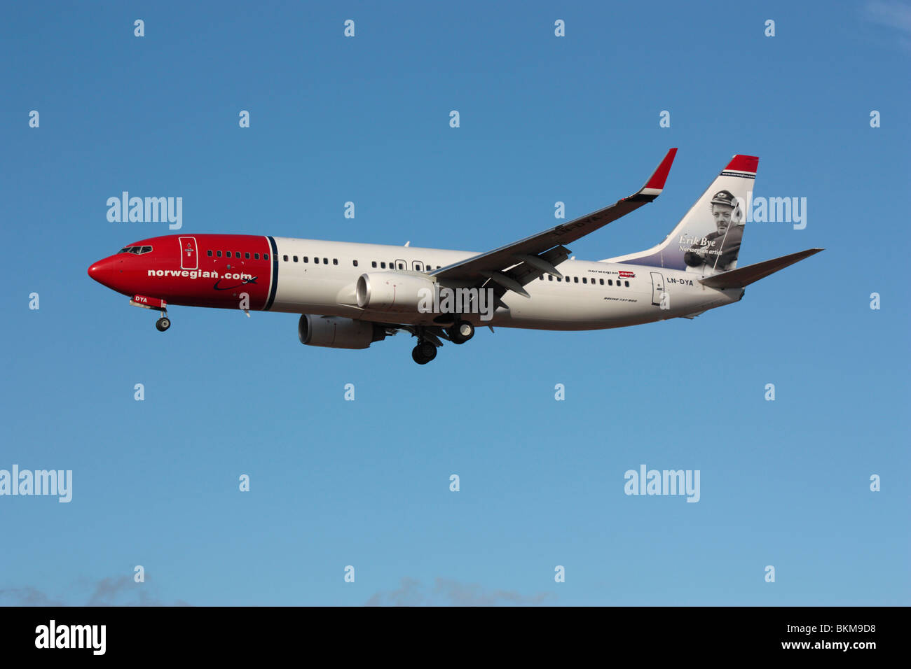 Boeing 737-800 passenger jet plane operated by Norwegian Airlines - Stock Image