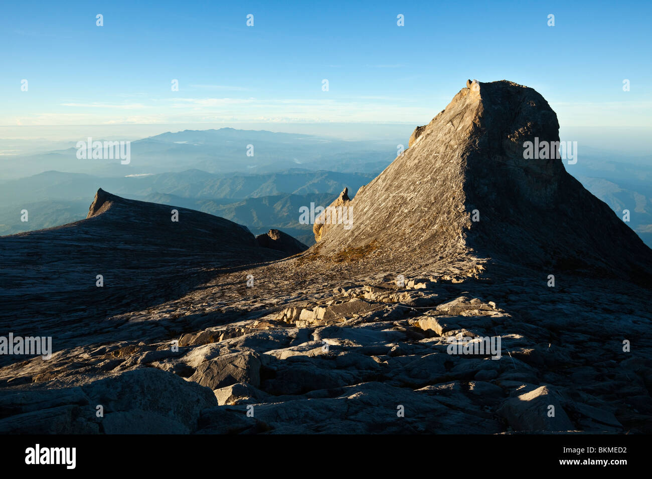 View from Low's Peak at the summit of Mt Kinabalu. Kinabalu National Park, Sabah, Borneo, Malaysia. - Stock Image