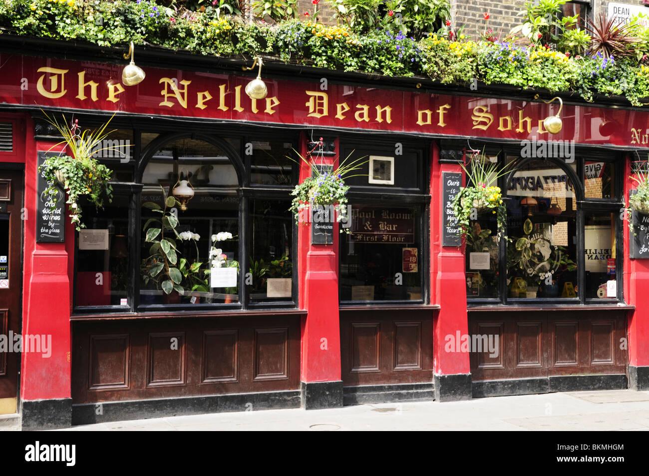 The Nellie Dean of Soho Pub in Dean Street, Soho, London, England, UK - Stock Image