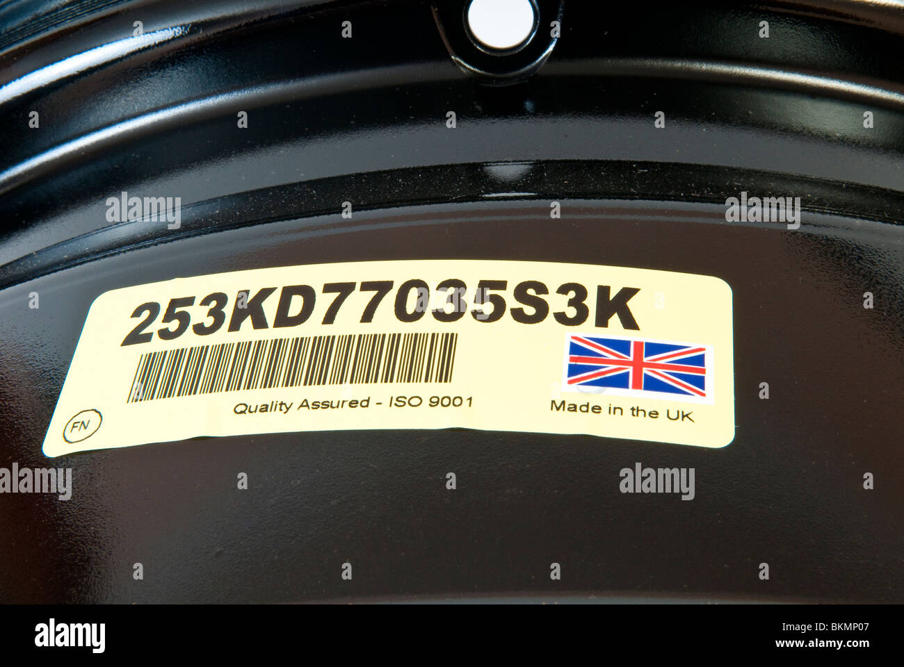Made in the UK & ISO9001 Label Stock Photo