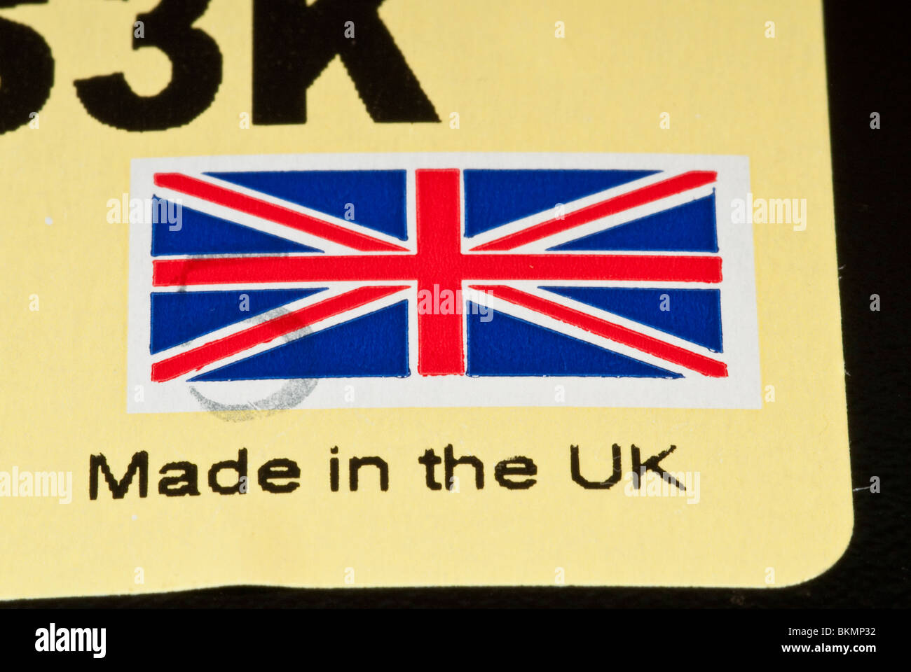 Made in the UK Label Stock Photo