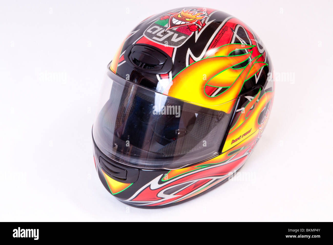 Motorcycle Crash Helmet Stock Photo