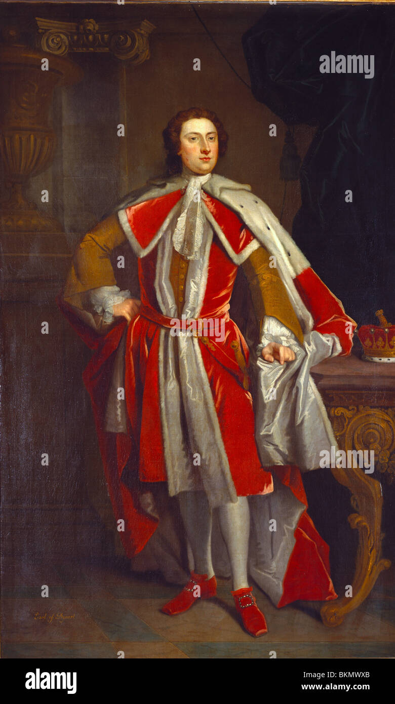 Lionel Tollemache, 4th Earl of Dysart, by John Vanderbank. England, 17th-18th century - Stock Image