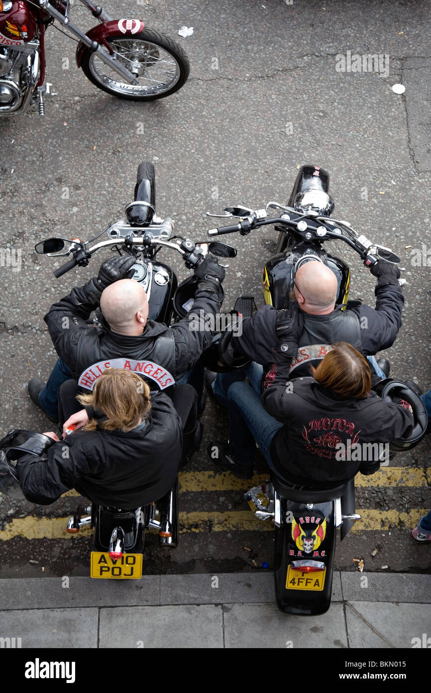 hells angels congregate for a funeral of