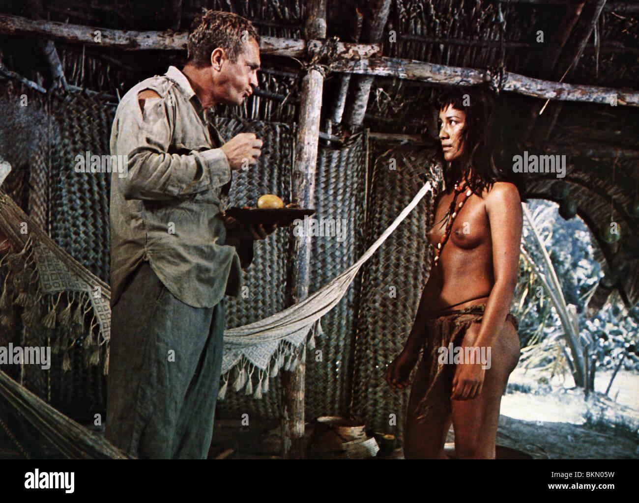PAPILLON -1973 STEVE McQUEEN - Stock Image