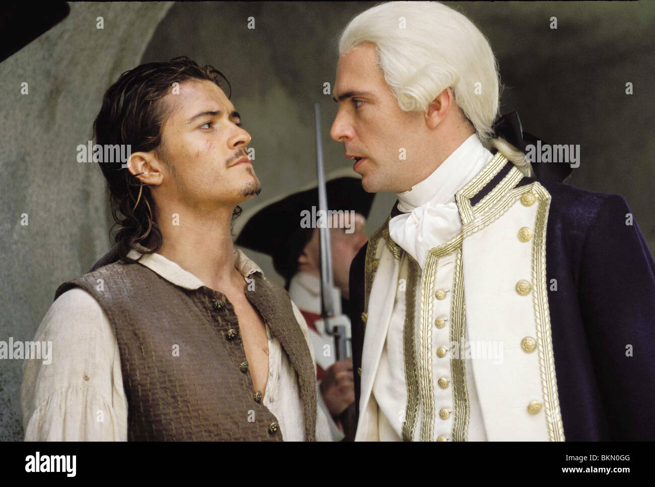 PIRATES OF THE CARIBBEAN: THE CURSE OF THE BLACK PEARL (2003) ORLANDO BLOOM, JACK DAVENPORT CREDIT DISNEY PIRC 001 - Stock Image