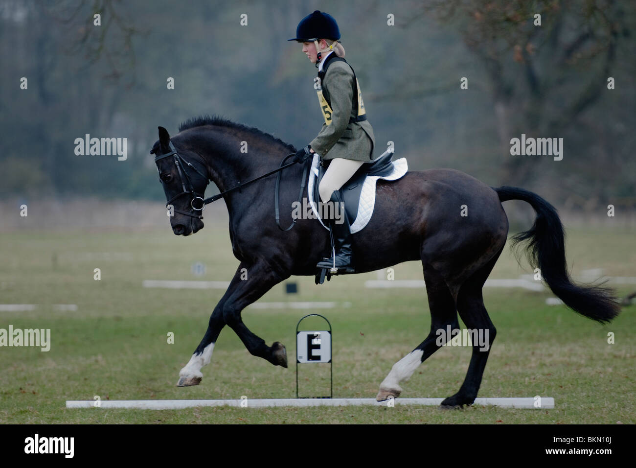 A participant at the  Central Scotland Horse Trials, Scone Palace, Perth. April 24th 2010. - Stock Image