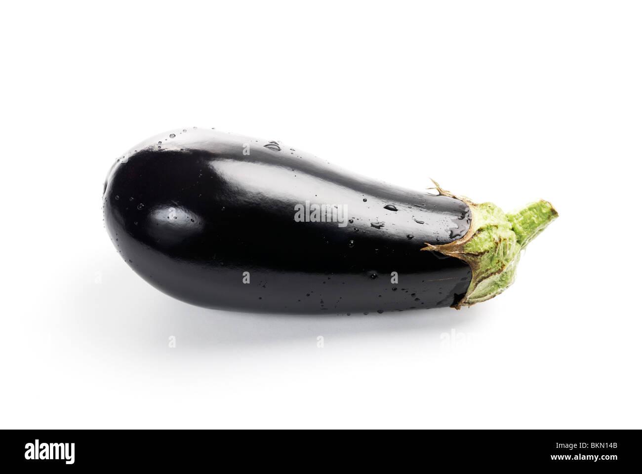 Eggplants, solanum melongena - Stock Image