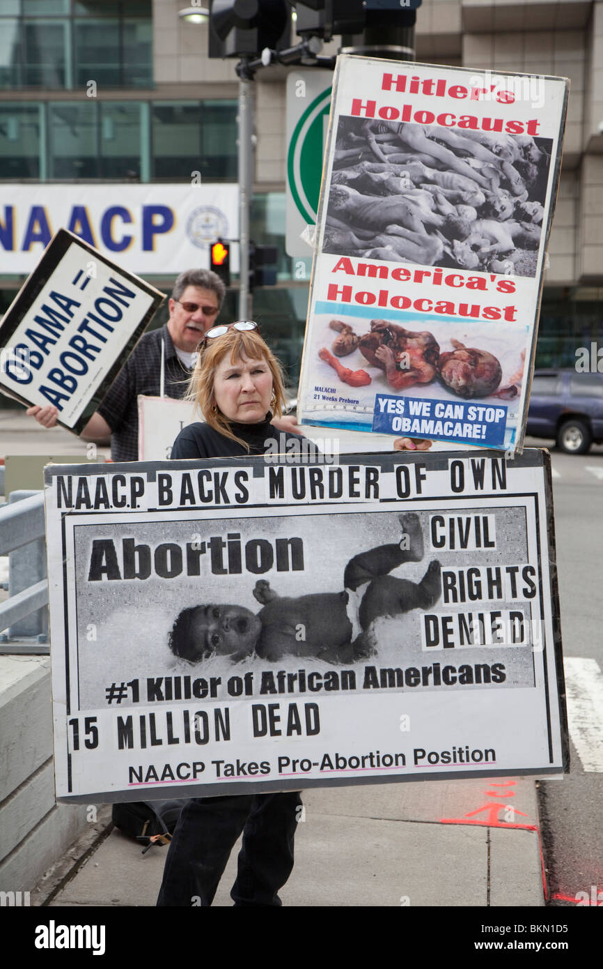 Anti-Abortion Demonstrators - Stock Image