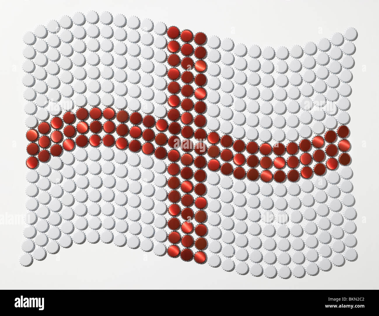 Flag of Saint George made of bottle tops Stock Photo: 29351730 - Alamy