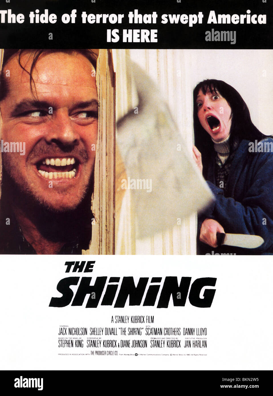 THE SHINING -1980 POSTER - Stock Image
