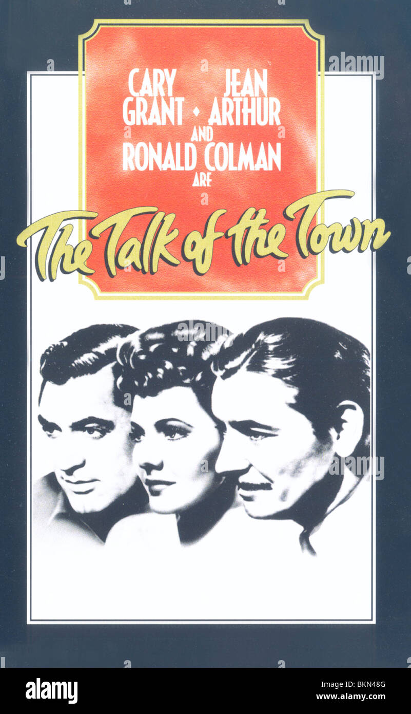 THE TALK OF THE TOWN (1942) POSTER TOTT 001VS - Stock Image