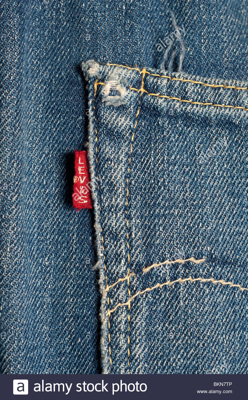 This is a pair of 1958 Levi\'s Big E Jeans with the capital E on the ...