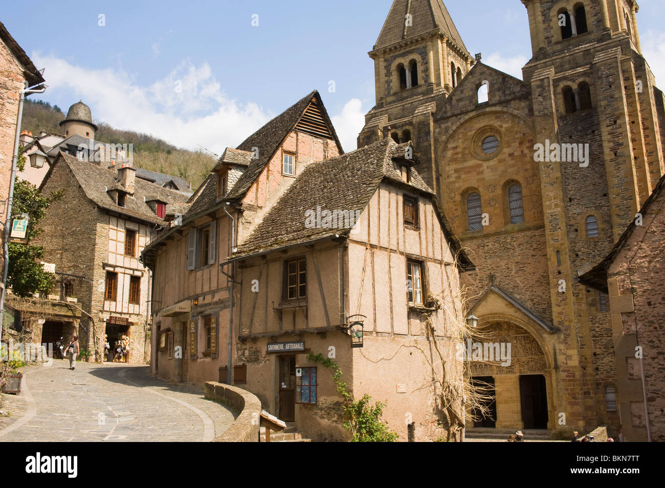 The Beautiful Medieval Historic Town Of Conques With Famous