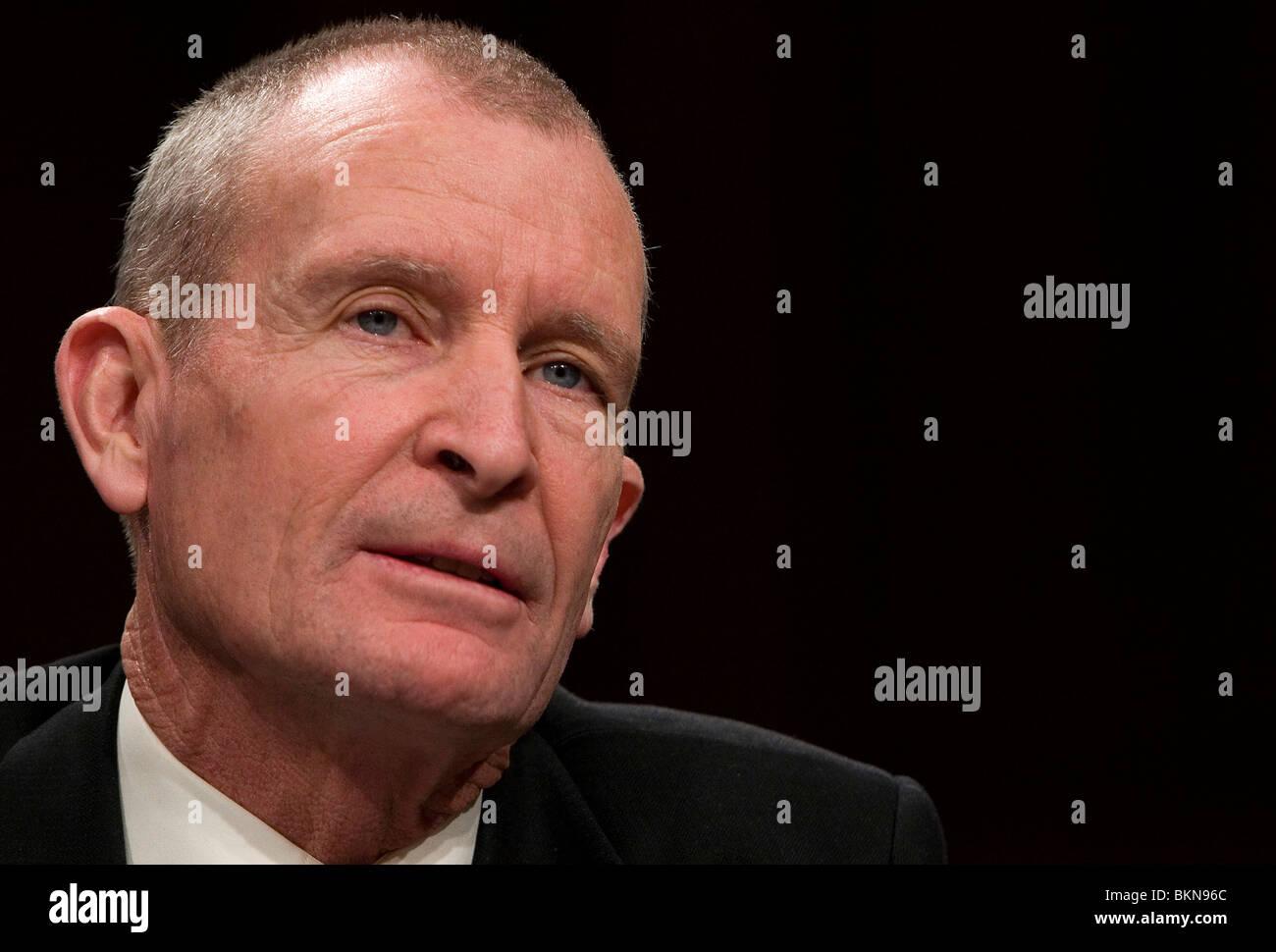 National Intelligence Director Dennis Blair. - Stock Image