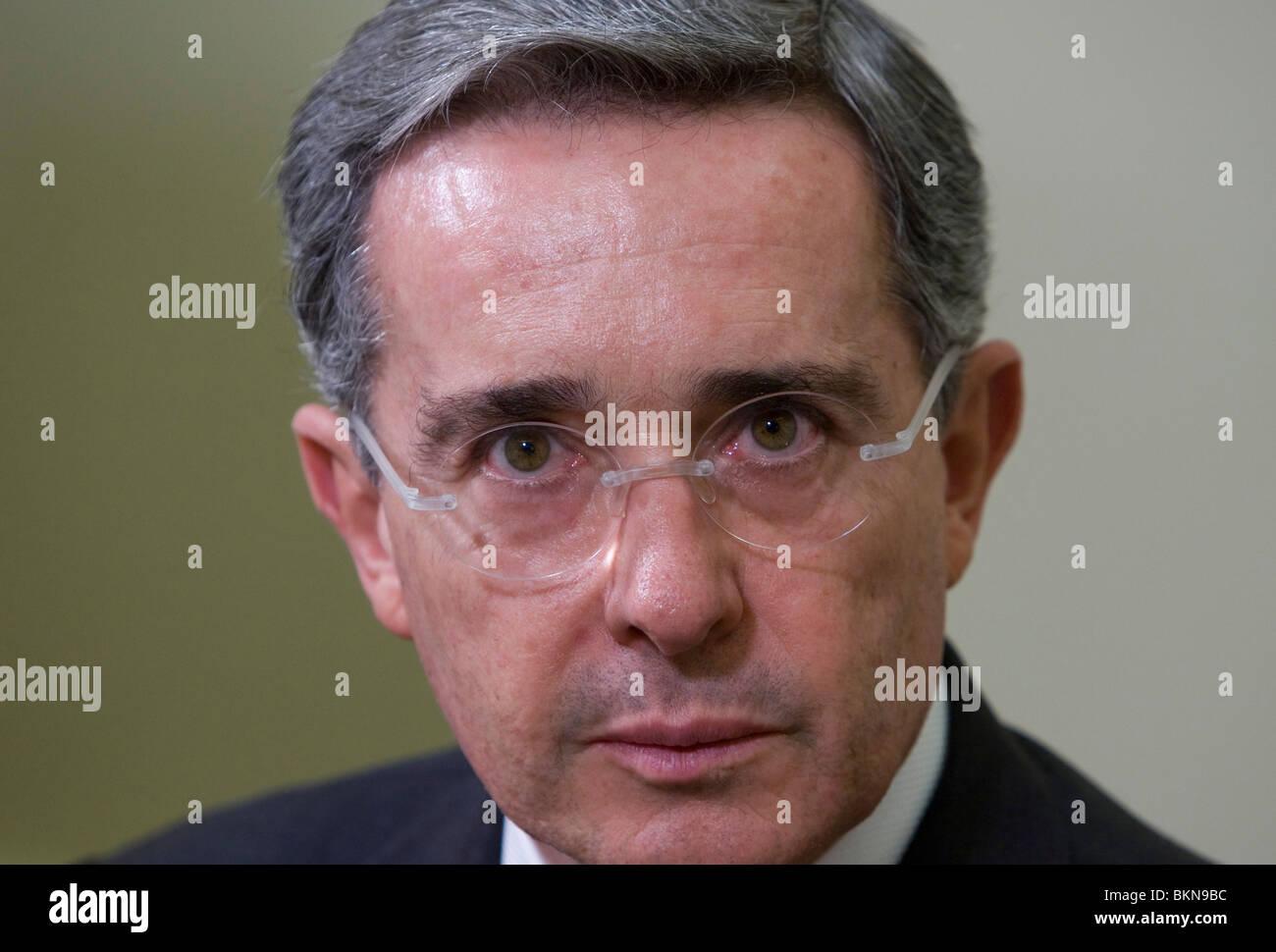 Colombian President Alvaro Uribe - Stock Image