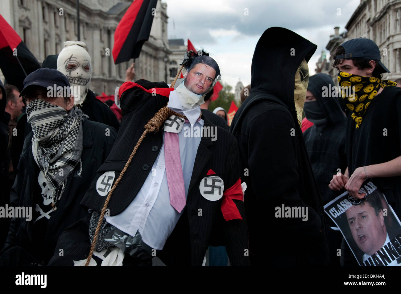 Mayday Meltdown trade Union March in London 2010 - Stock Image