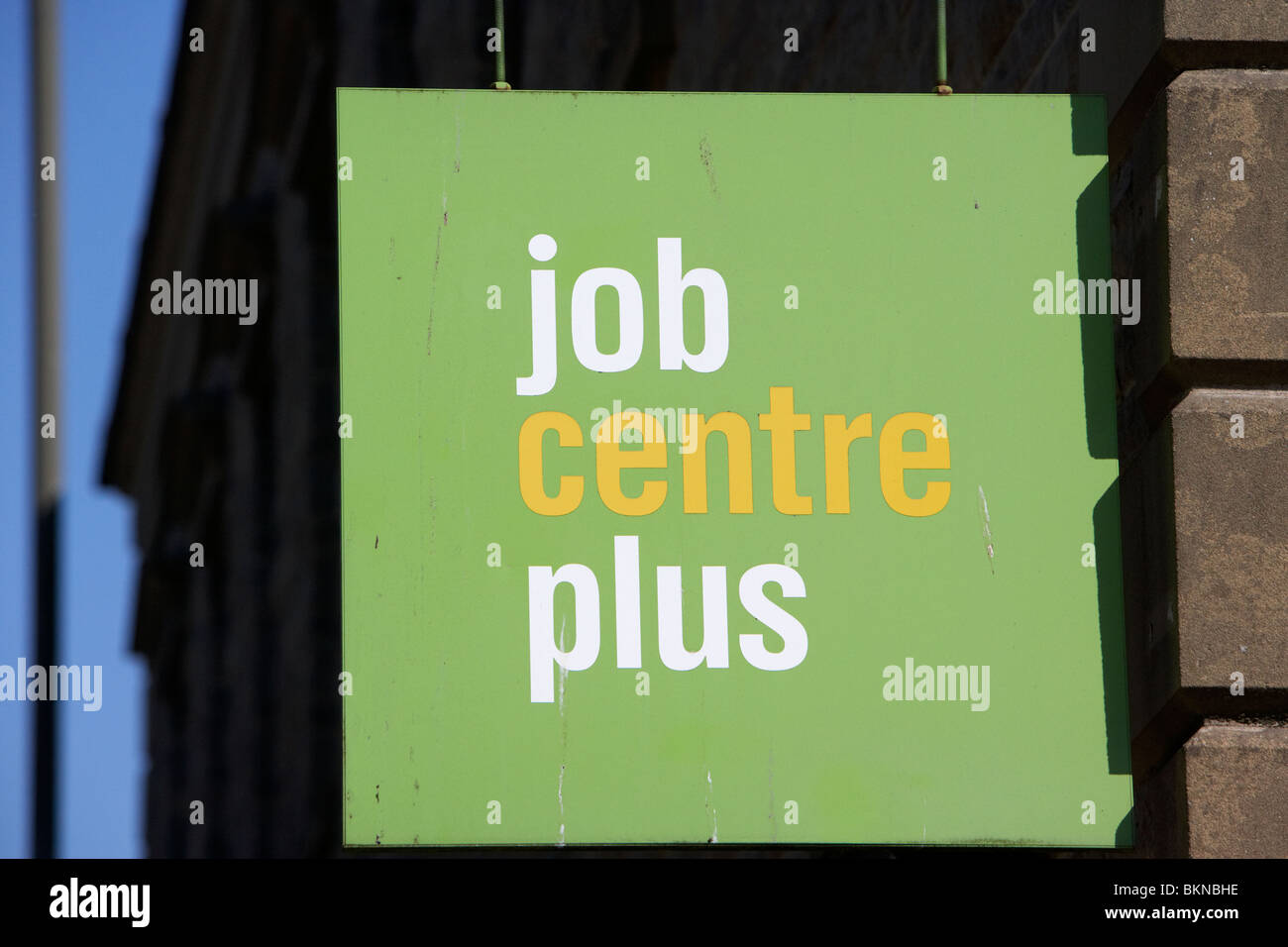 job centre plus sign Buxton Derbyshire England UK - Stock Image