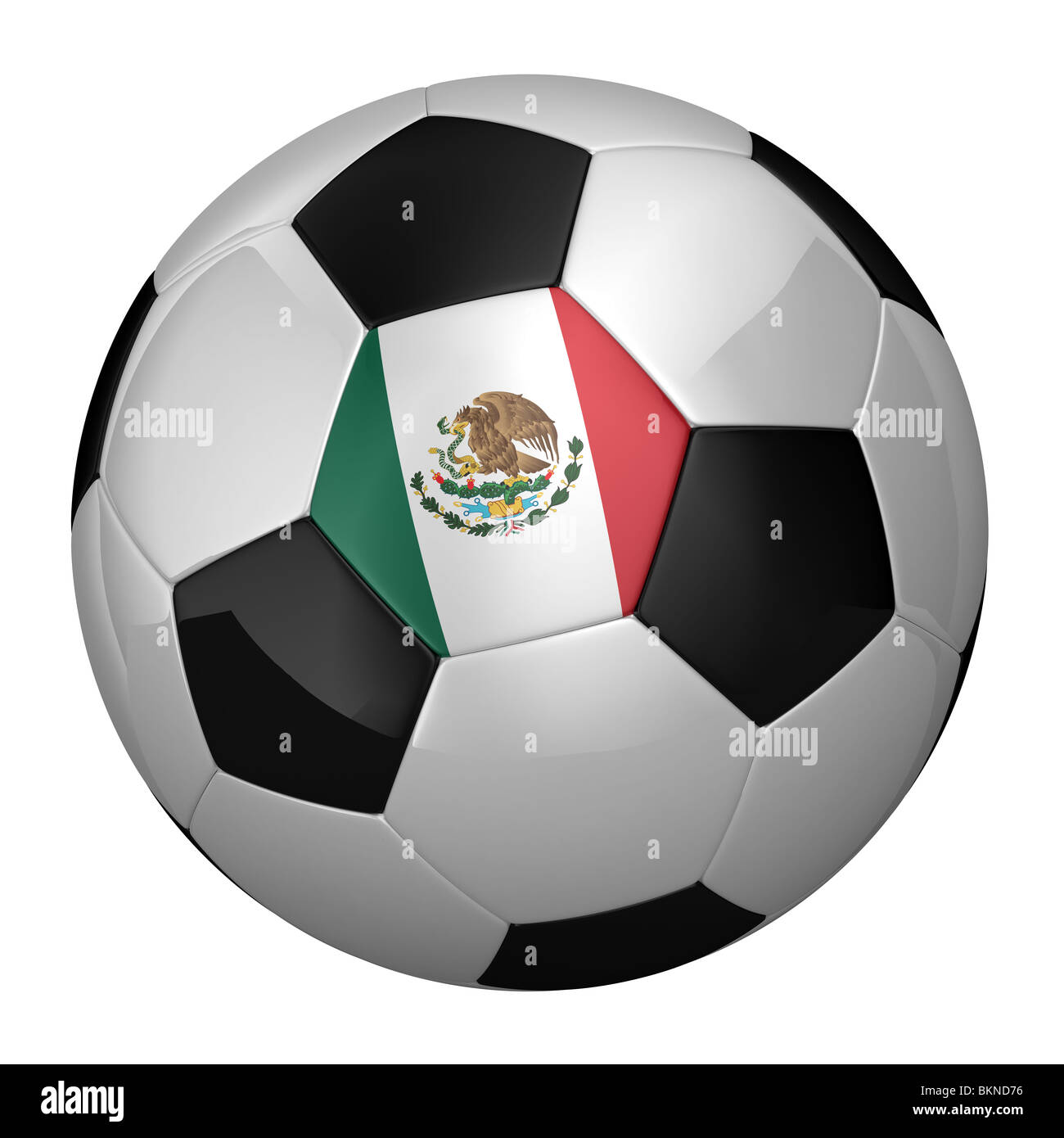 Mexican Soccer Ball - Stock Image