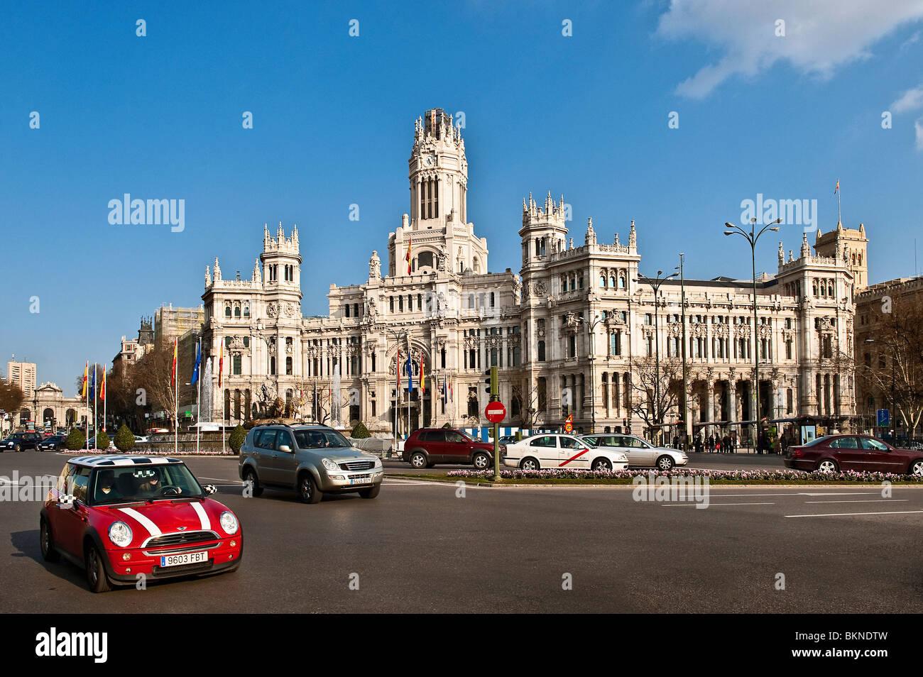 Palacio de Comunicaciones, Madrid, Spain - Stock Image