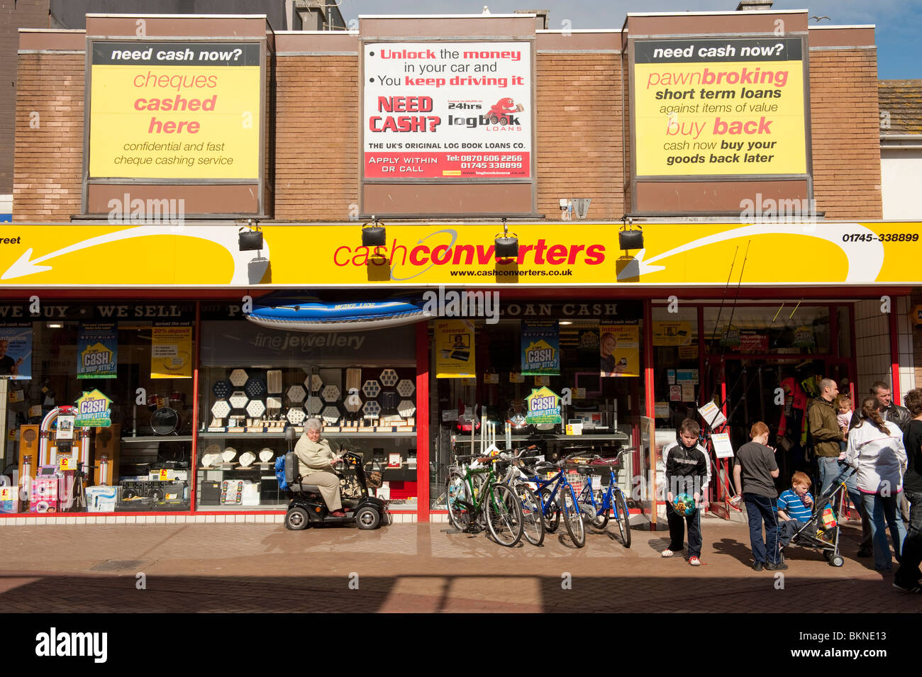 Cash Converters pawn shop in Rhyl town centre, North Wales UK - Stock Image