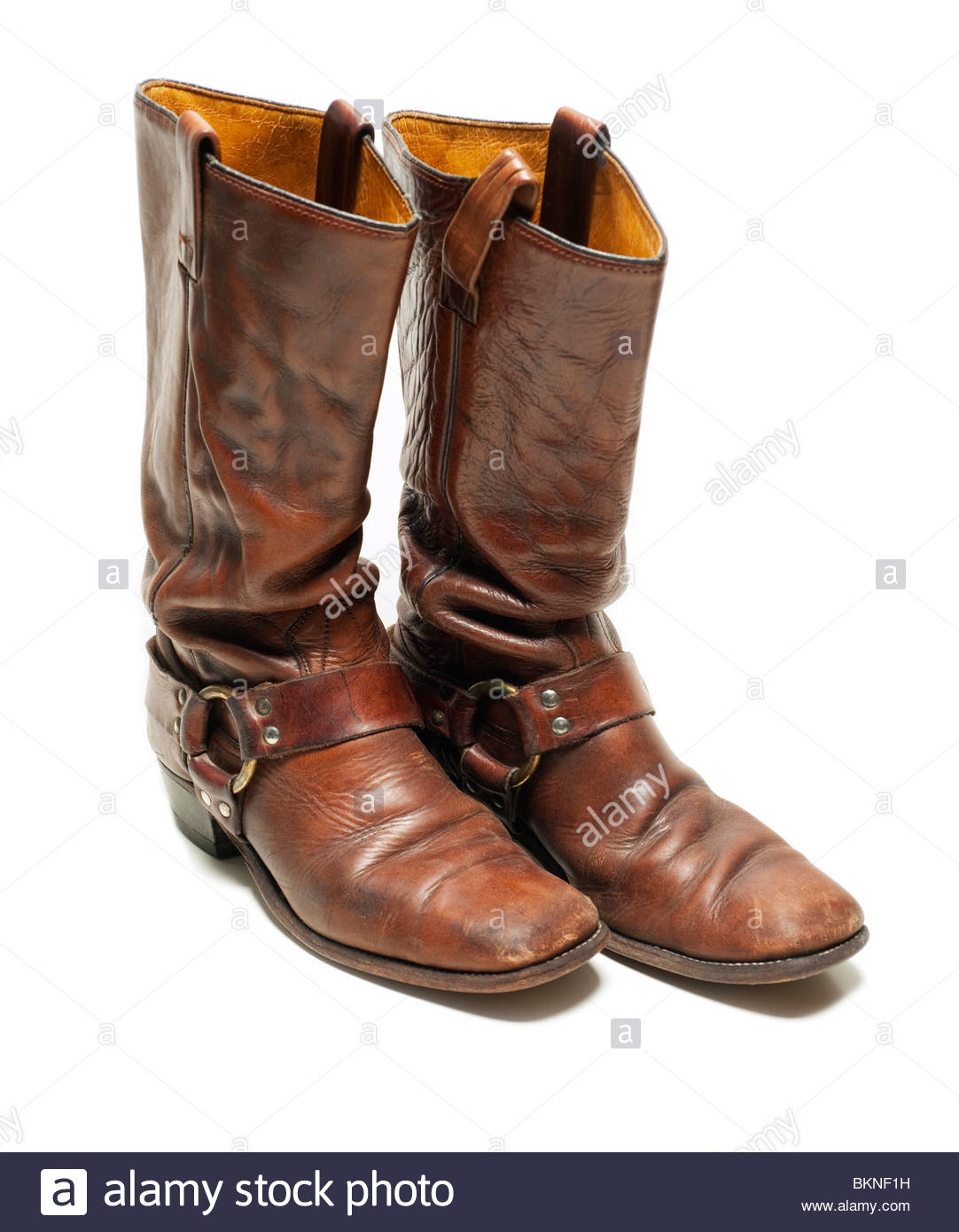 7e36b498f5f Vintage Distressed Leather Harness Boots from the late 1960 s to early  1970 s Hippie Bohemian style fashion boot